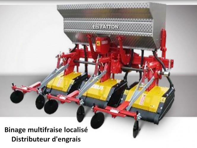 Binage multifraise localisé distributeur d'engrais
