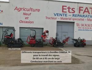 Transporteurs à chenilles CAMISA TP pour travail des vignes