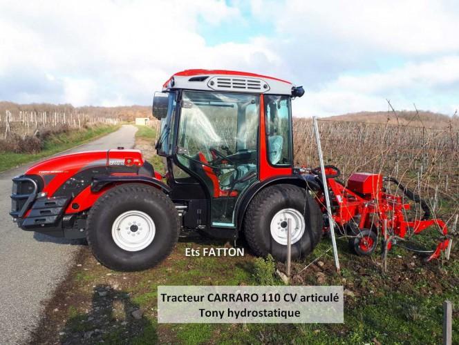 Tracteur CARRARO 110 CV articulé