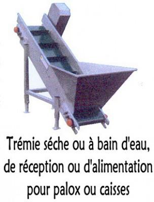 Trémie séche ou à bain d'eau