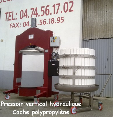 Pressoir vertical hydraulique