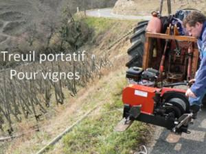 Treuil portatif pour vignes