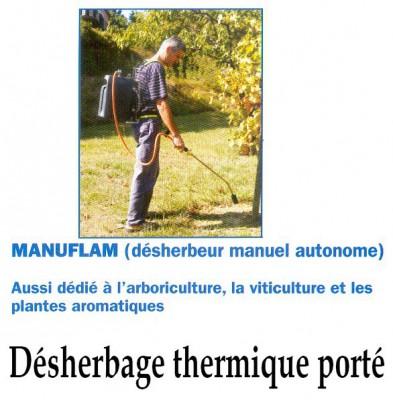 Désherbage thermique porté