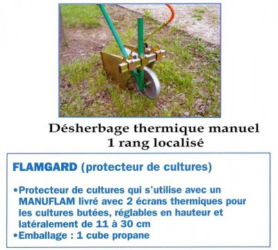 Désherbage thermique manuel légumes
