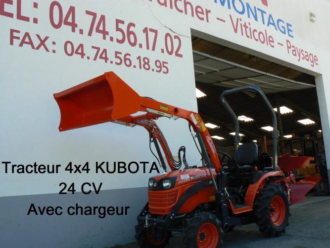 Tracteur 4x4 KUBOTA 24 CV avec chargeur