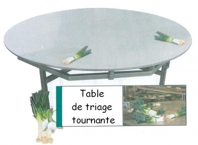 Table de triage tournante
