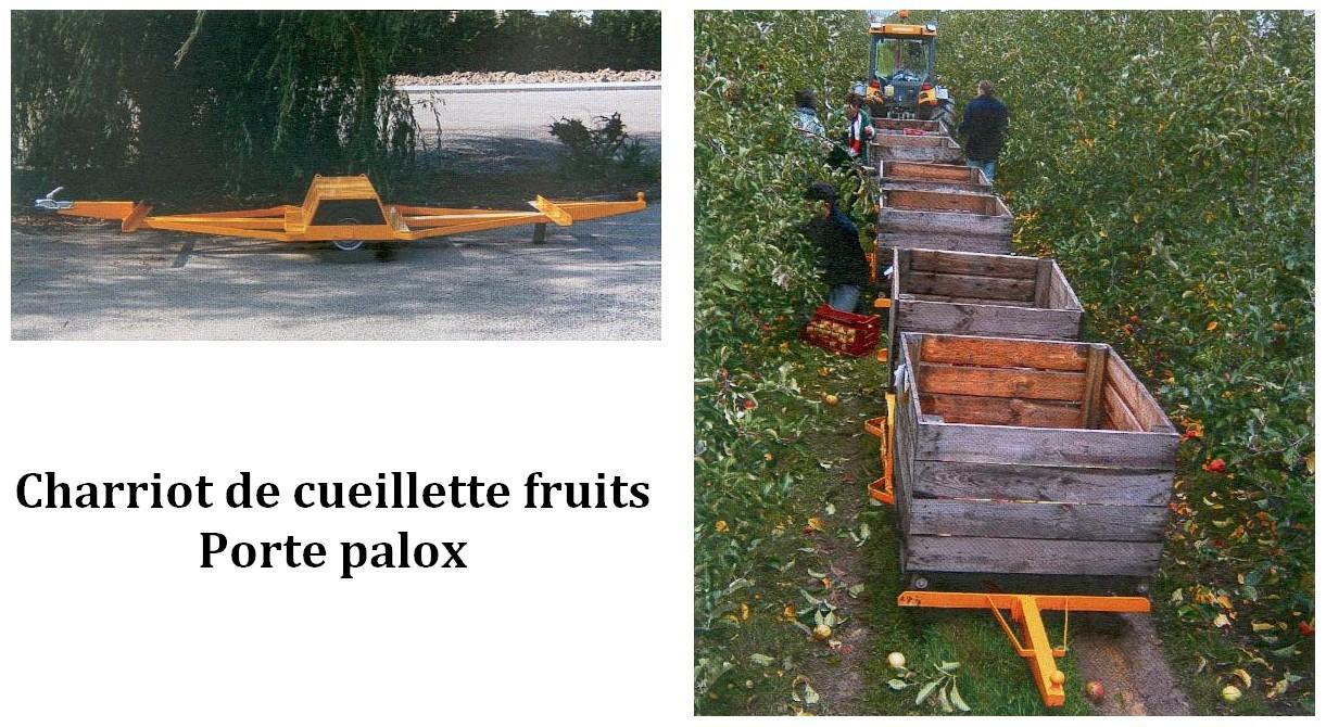 Chariot de cueillette fruits
