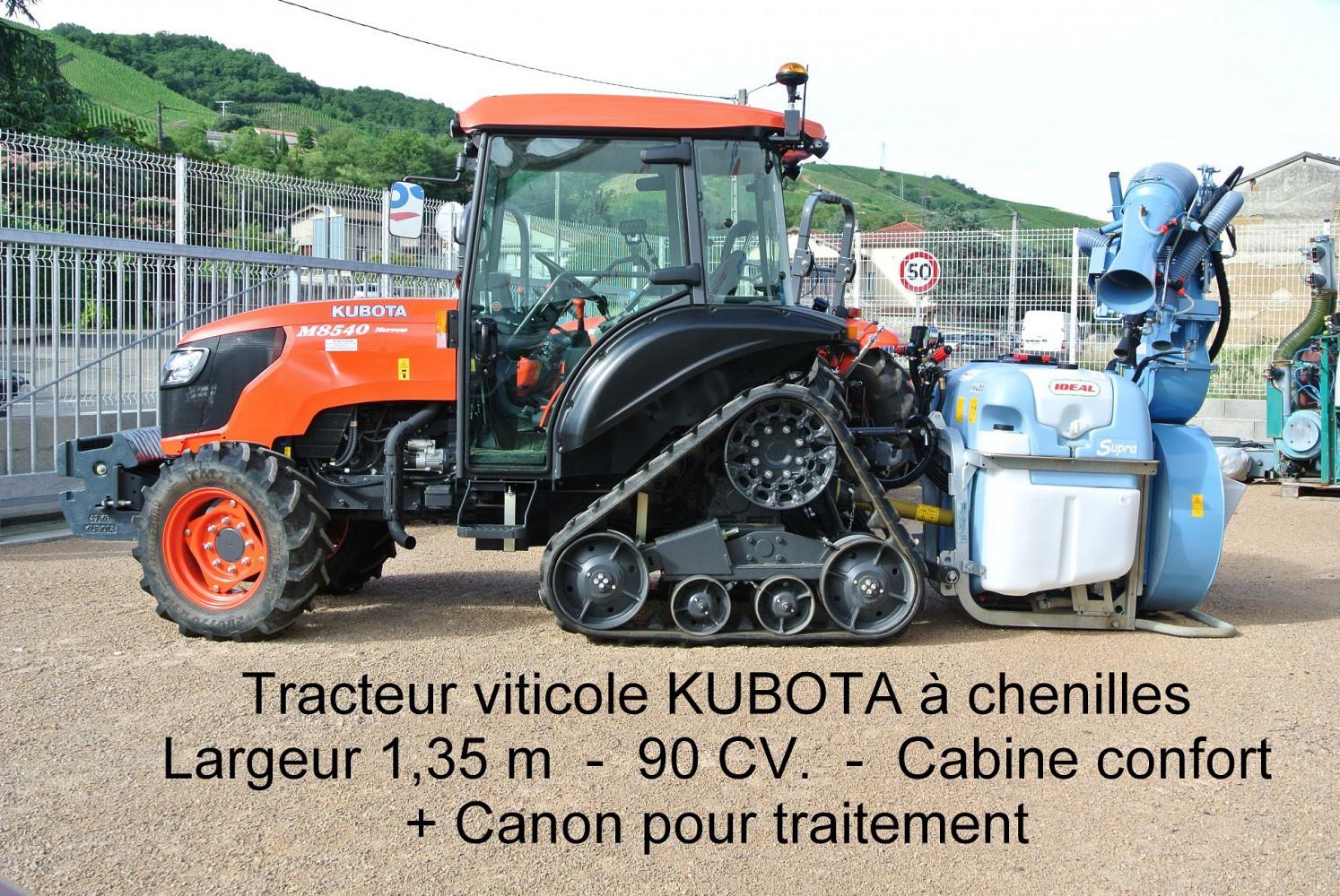 Tracteur viticole KUBOTA à chenilles