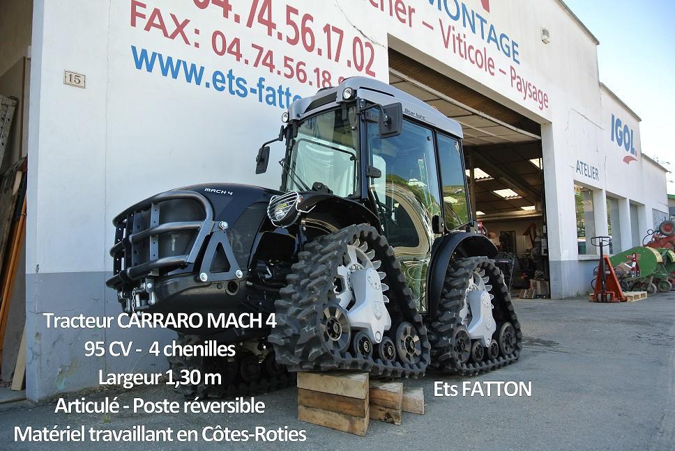 Tracteur à chenilles CARRARO MACH 4