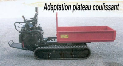 Adaptation plateau coulissant