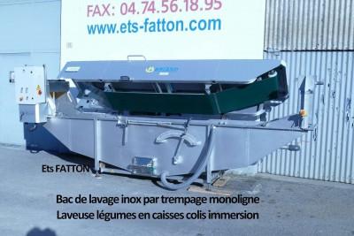 Bac de lavage inox par trempage monoligne