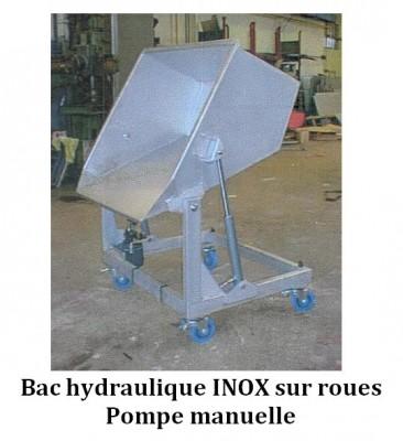 Bac hydraulique INOX sur roues