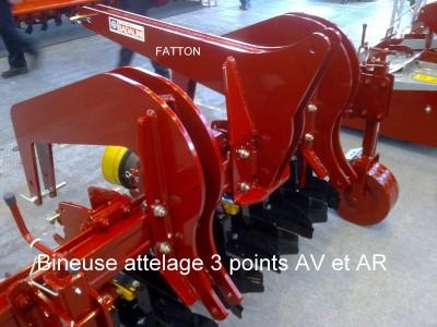Bineuse attelage 3 points AV et AR
