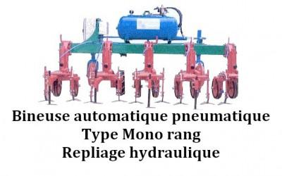Bineuse automatique pneumatique