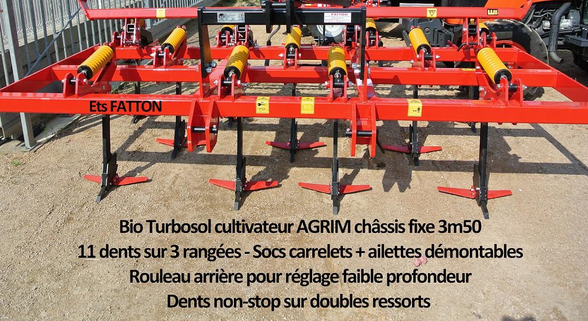 Bio-Turbosol cultivateur AGRIM châssis fixe