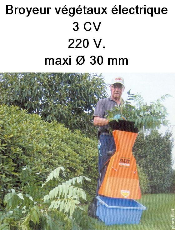 Broyeur végétaux électrique
