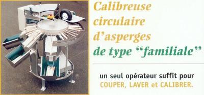 Calibreuse circulaire d'asperges