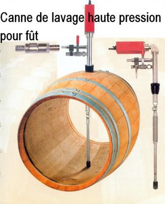 Canne de lavage haute pression pour fût