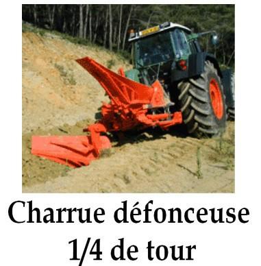 Charrue défonceuse 1/4 de tour