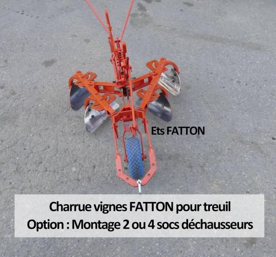 Charrue vignes FATTON pour treuil