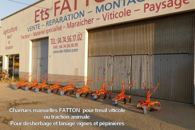 Charrues manuelles FATTON pour treuil viticole ou traction animale