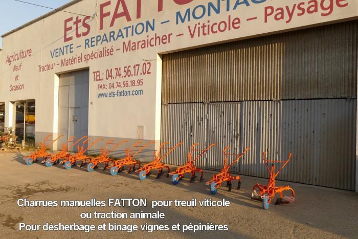 Charrues manuelles FATTON pour treuil viticole ou traction animale