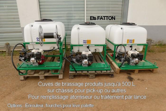 Cuves de brassage produits jusqu'à 500 litres