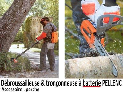 Débroussailleuse et tronçonneuse à batterie PELLENC