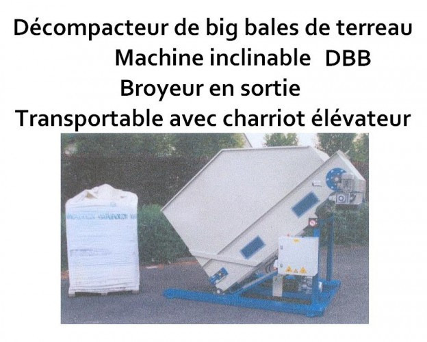 Décompacteur de big bales de terreau