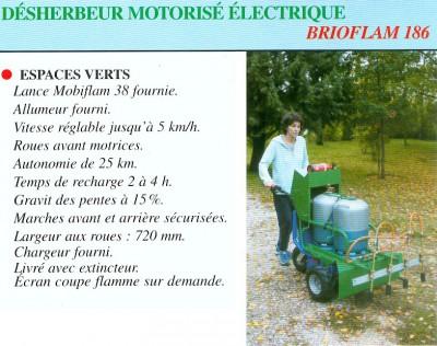 Désherbeur motorisé électrique
