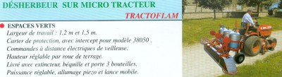 Désherbeur sur micro tracteur