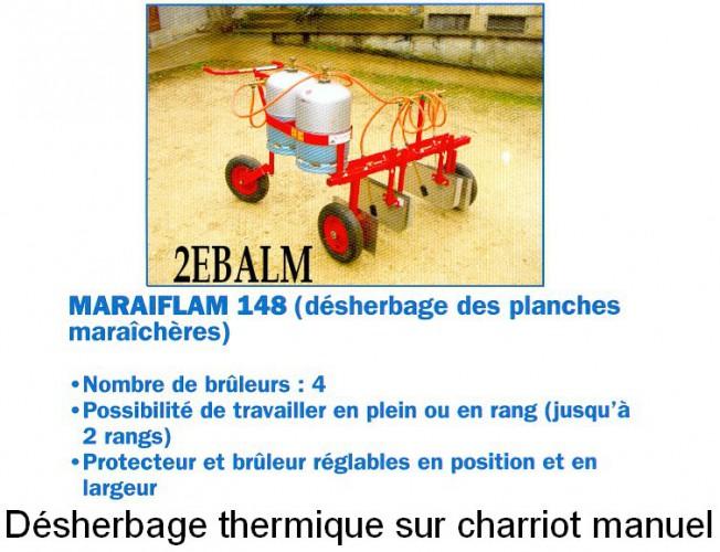Désherbeur thermique sur chariot manuel