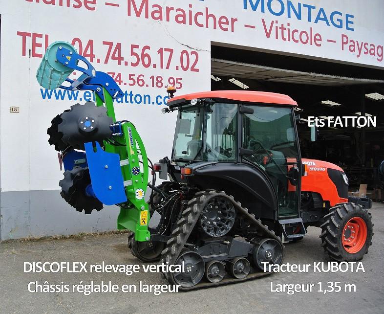 DISCOFLEX + Tracteur KUBOTA