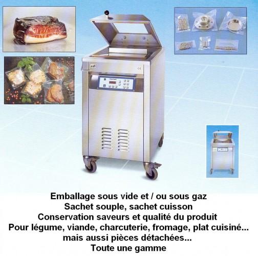 Emballage sous vide et / ou sous gaz