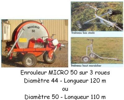 Enrouleur MICRO 50 sur 3 roues