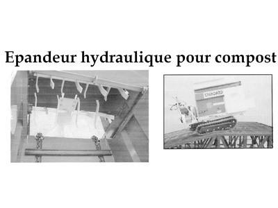 Epandeur hydraulique pour compost