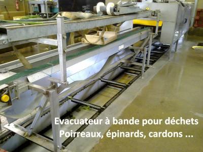 Evacuateur à bande pour déchets