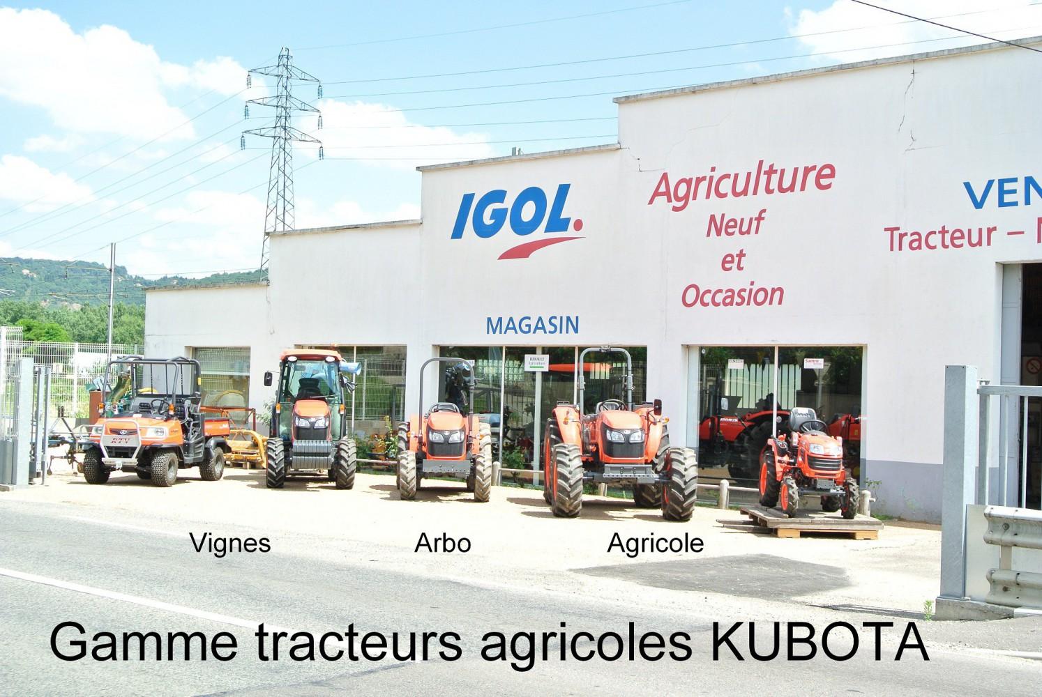 Gamme tracteurs agricoles KUBOTA