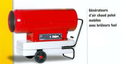 Générateurs d'air chaud pulsé