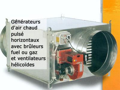 Générateurs d'air chaud