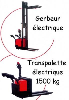 Gerbeur et transpalette électriques