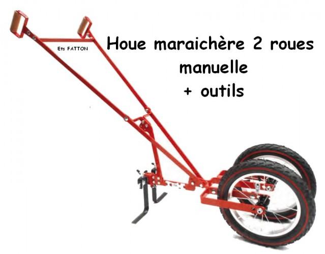 Houe maraîchère 2 roues