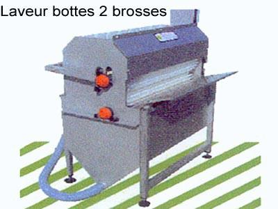 Laveur bottes 2 brosses