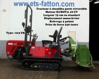 Micro-tracteur à chenilles poste réversible