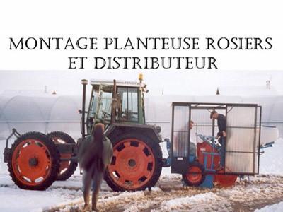 Montage planteuse rosiers et distributeur
