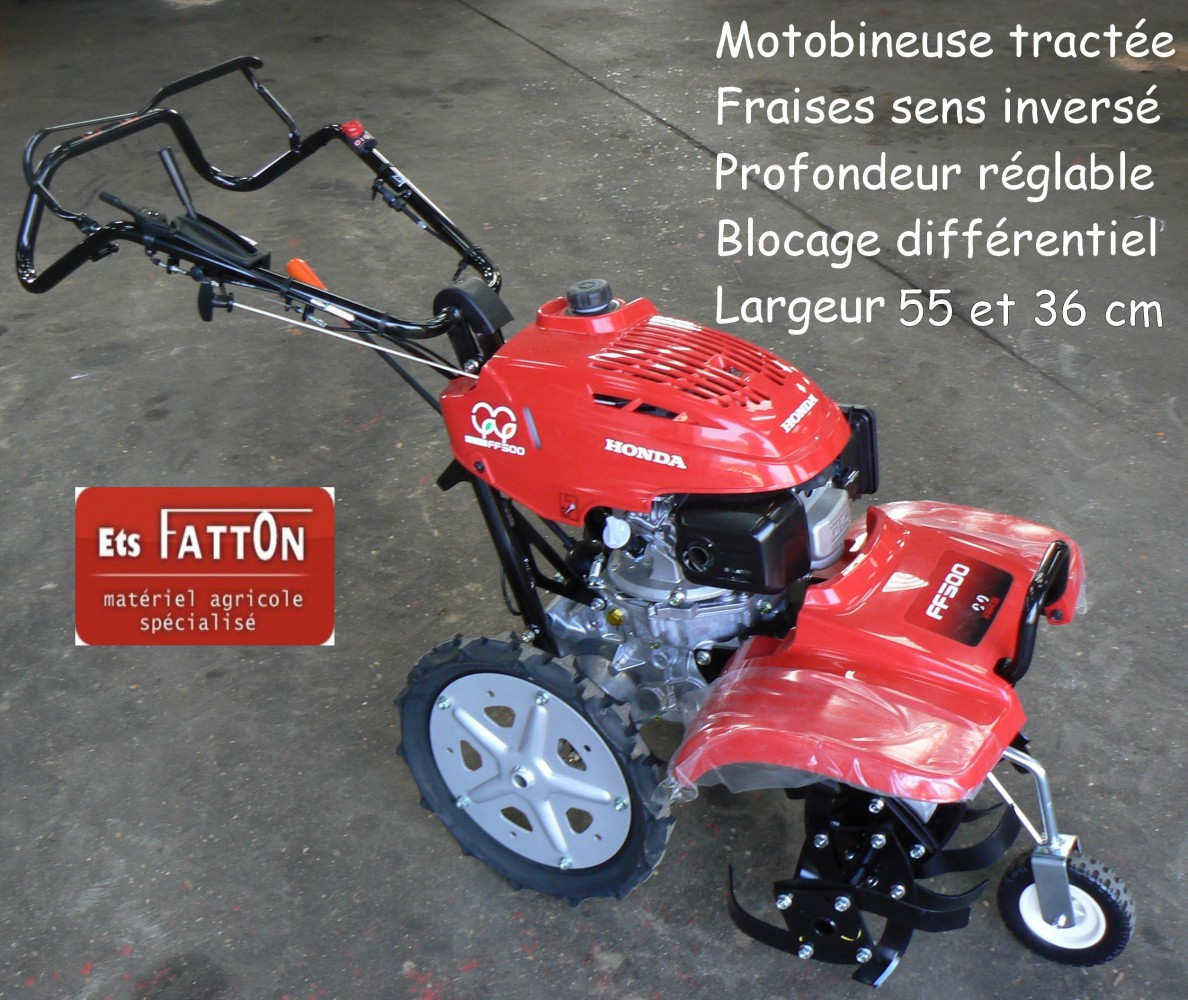 Motobineuse HONDA tractée