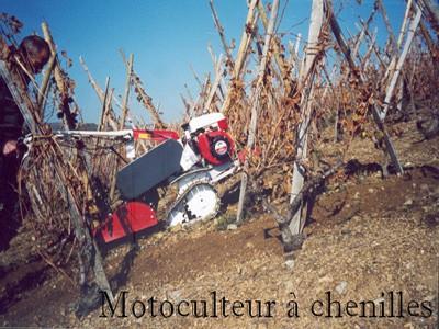 Motoculteur à chenilles