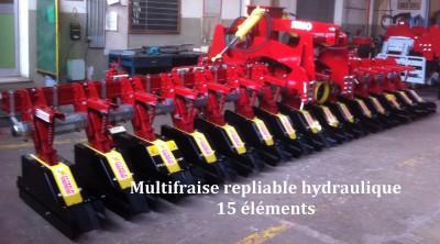 Multifraise repliable hydraulique maïs
