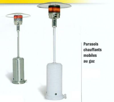 Parasols chauffants mobiles au gaz