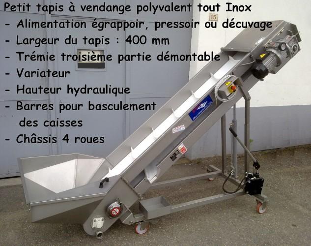 Petit tapis à vendange polyvalent INOX